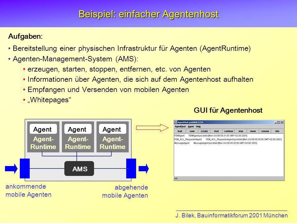 Beispiel: einfacher Agentenhost