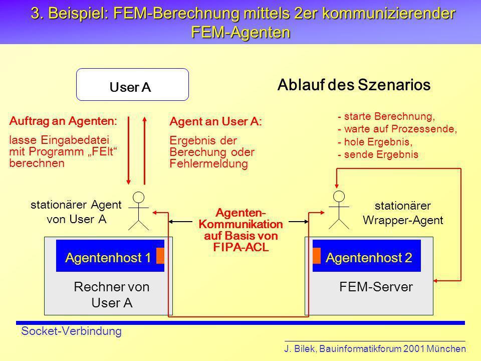 3. Beispiel: FEM-Berechnung mittels 2er kommunizierender FEM-Agenten