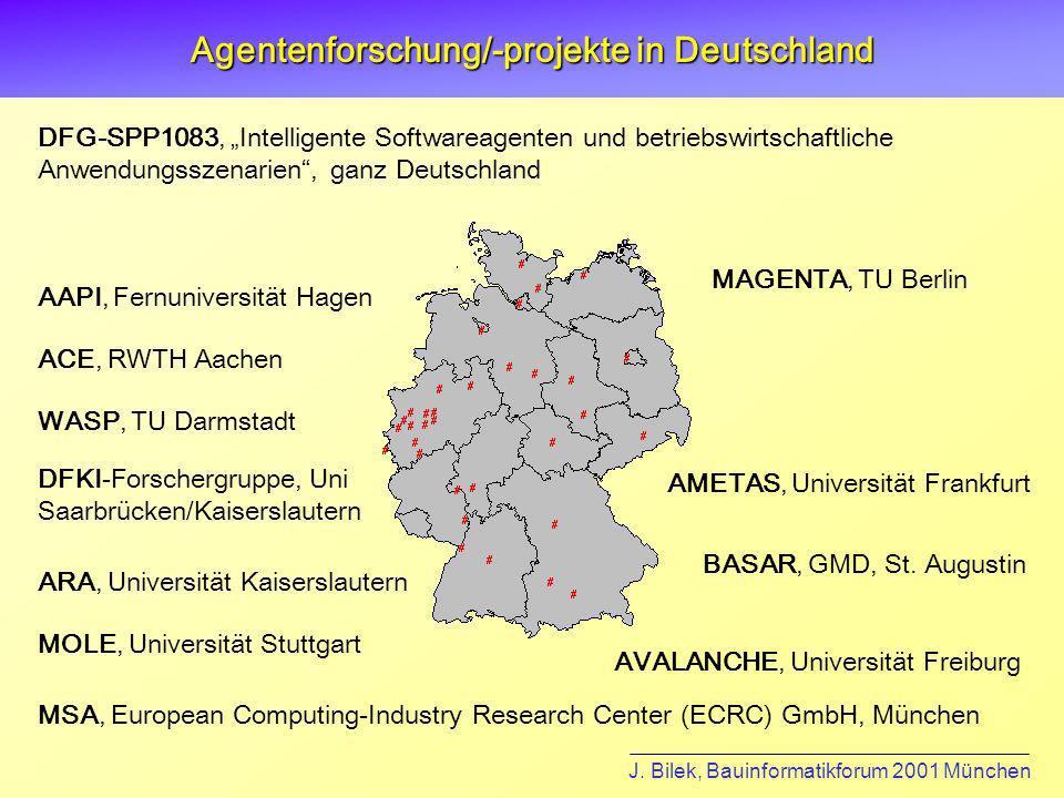 Agentenforschung/-projekte in Deutschland