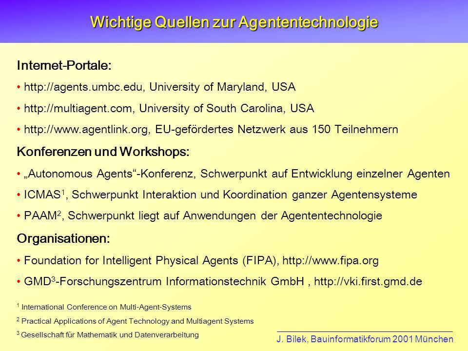 Wichtige Quellen zur Agententechnologie