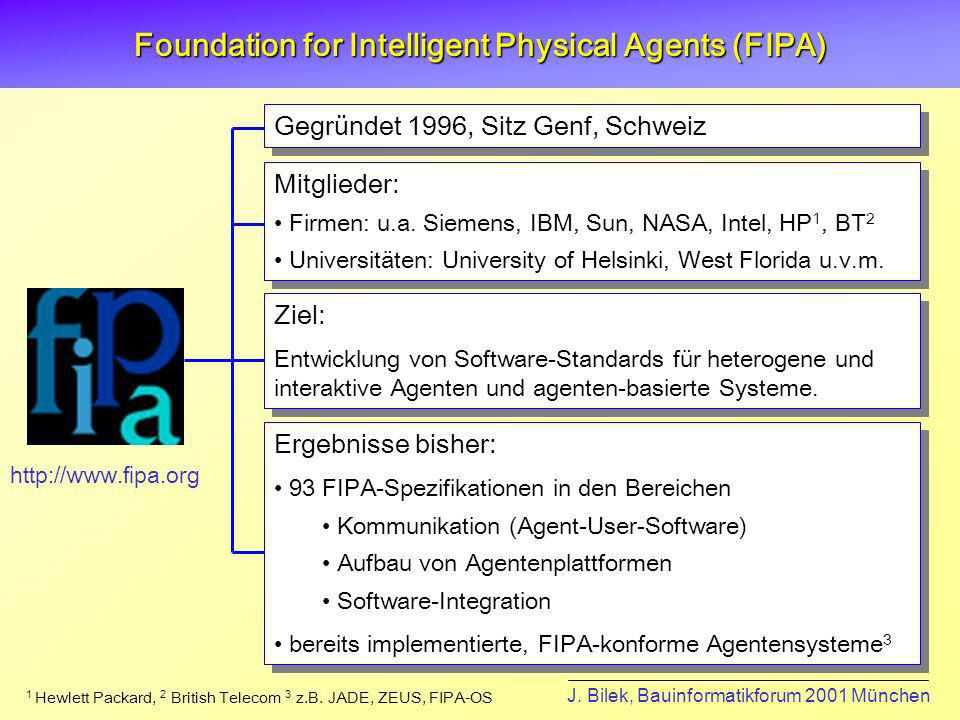 Foundation for Intelligent Physical Agents (FIPA)