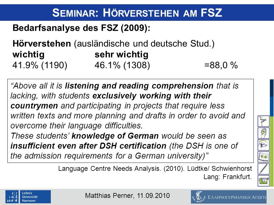 Seminar: Hörverstehen am FSZ