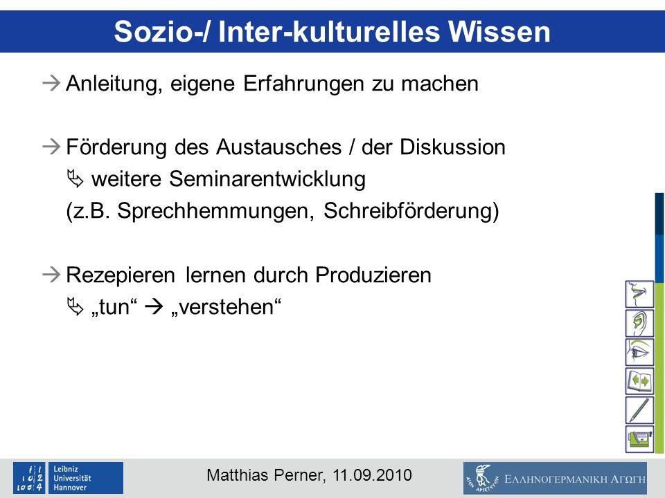 Sozio-/ Inter-kulturelles Wissen