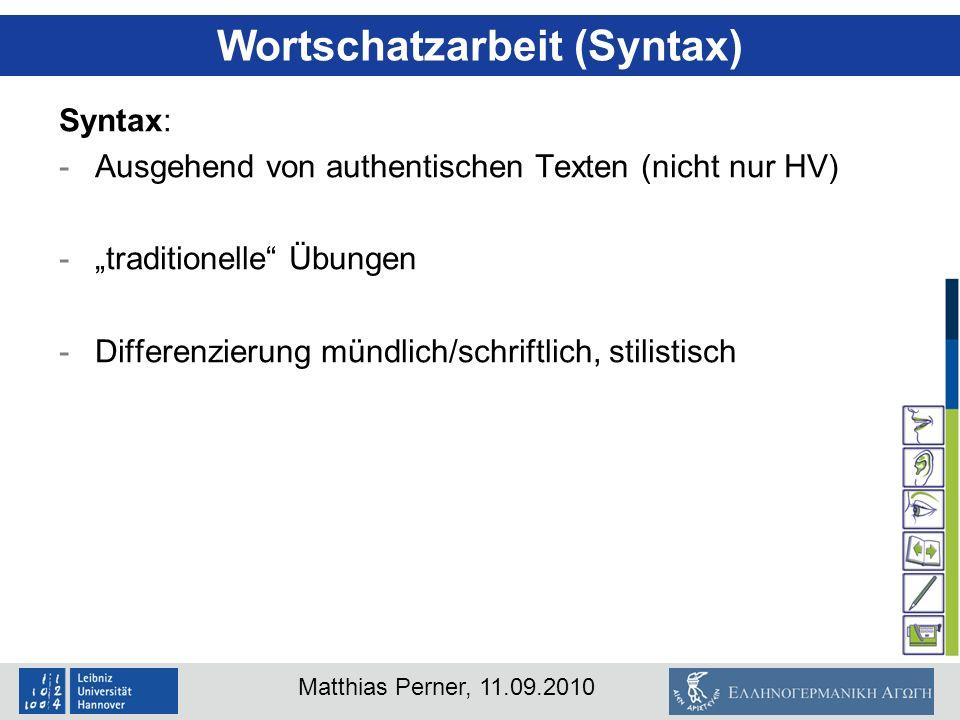 Wortschatzarbeit (Syntax)