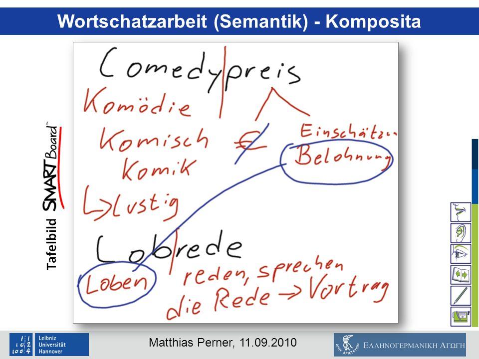 Wortschatzarbeit (Semantik) - Komposita