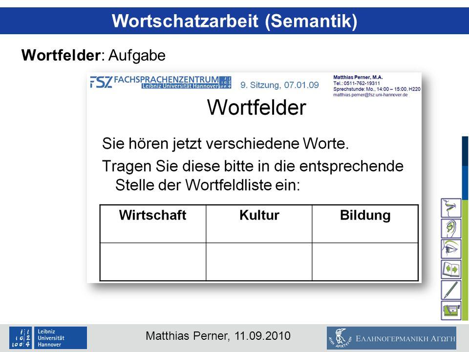 Wortschatzarbeit (Semantik)