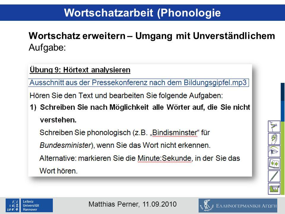 Wortschatzarbeit (Phonologie