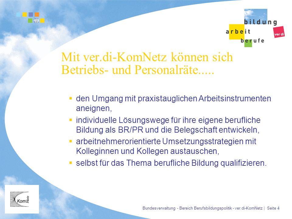 Mit ver.di-KomNetz können sich Betriebs- und Personalräte.....