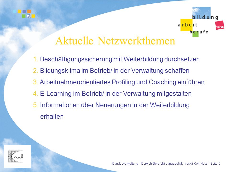 Aktuelle Netzwerkthemen