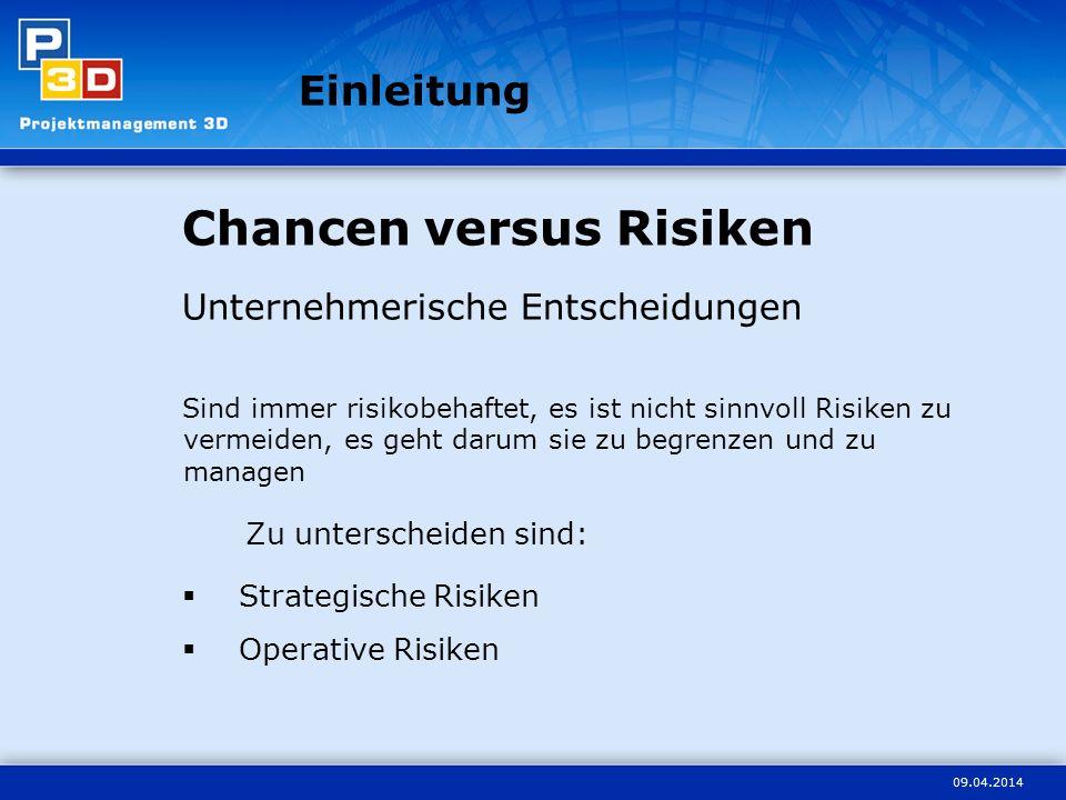 Chancen versus Risiken
