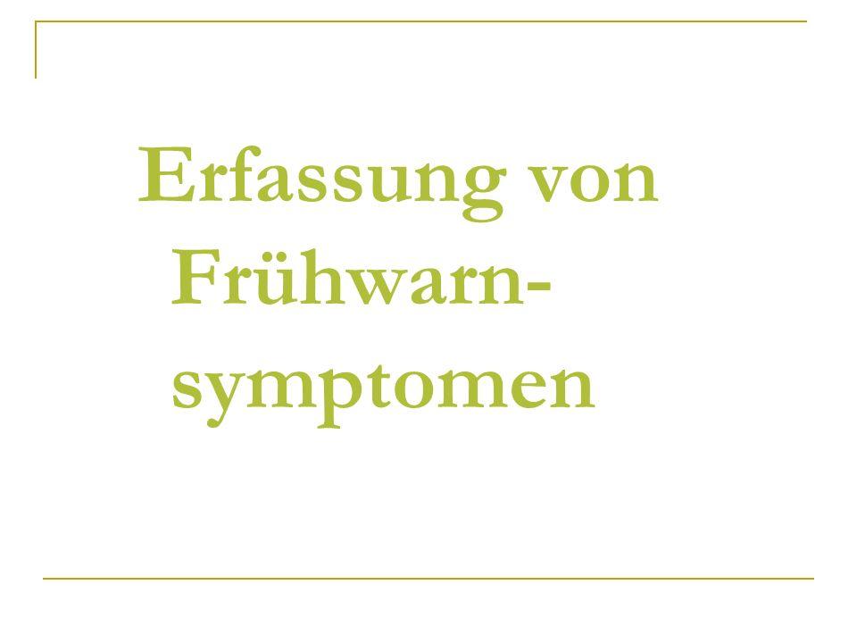 Erfassung von Frühwarn-symptomen