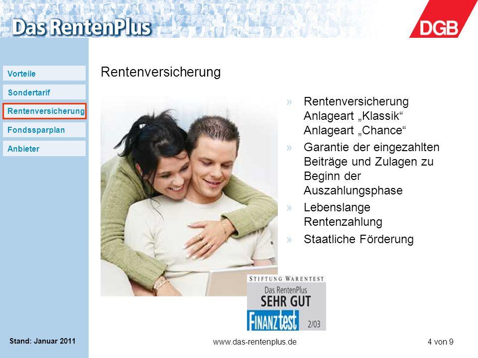 """Rentenversicherung Rentenversicherung Anlageart """"Klassik Anlageart """"Chance"""