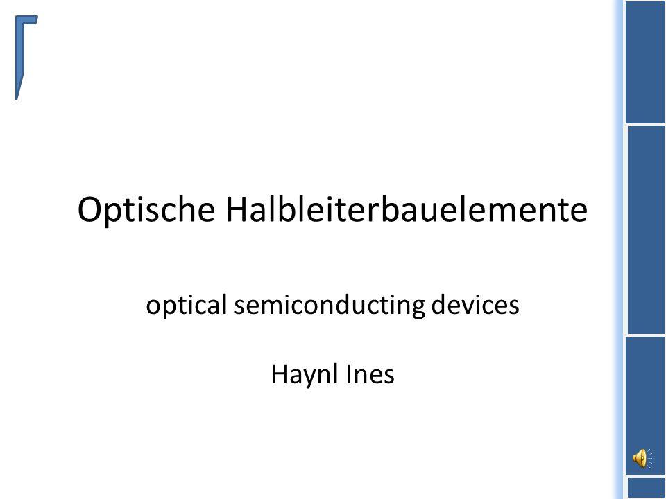 Optische Halbleiterbauelemente