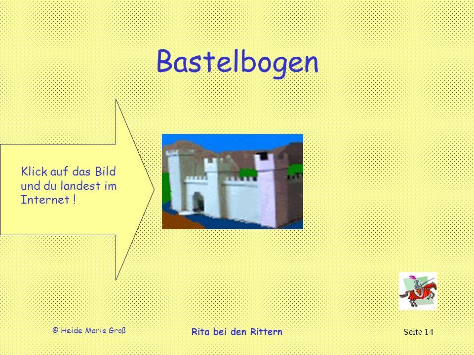 Bastelbogen Klick auf das Bild und du landest im Internet !