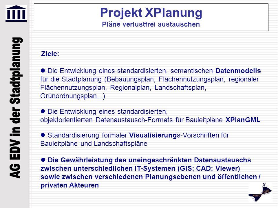 Projekt XPlanung Pläne verlustfrei austauschen