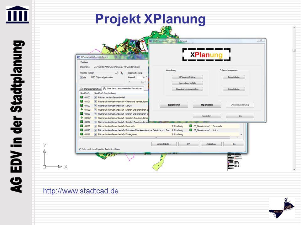 Projekt XPlanung http://www.stadtcad.de