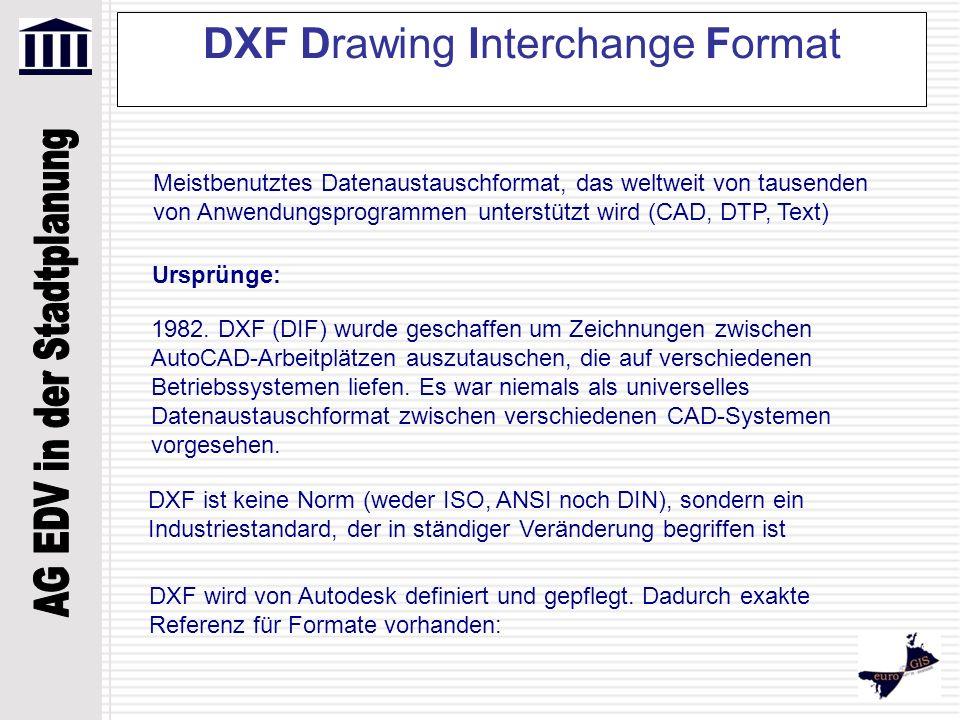 DXF Drawing Interchange Format