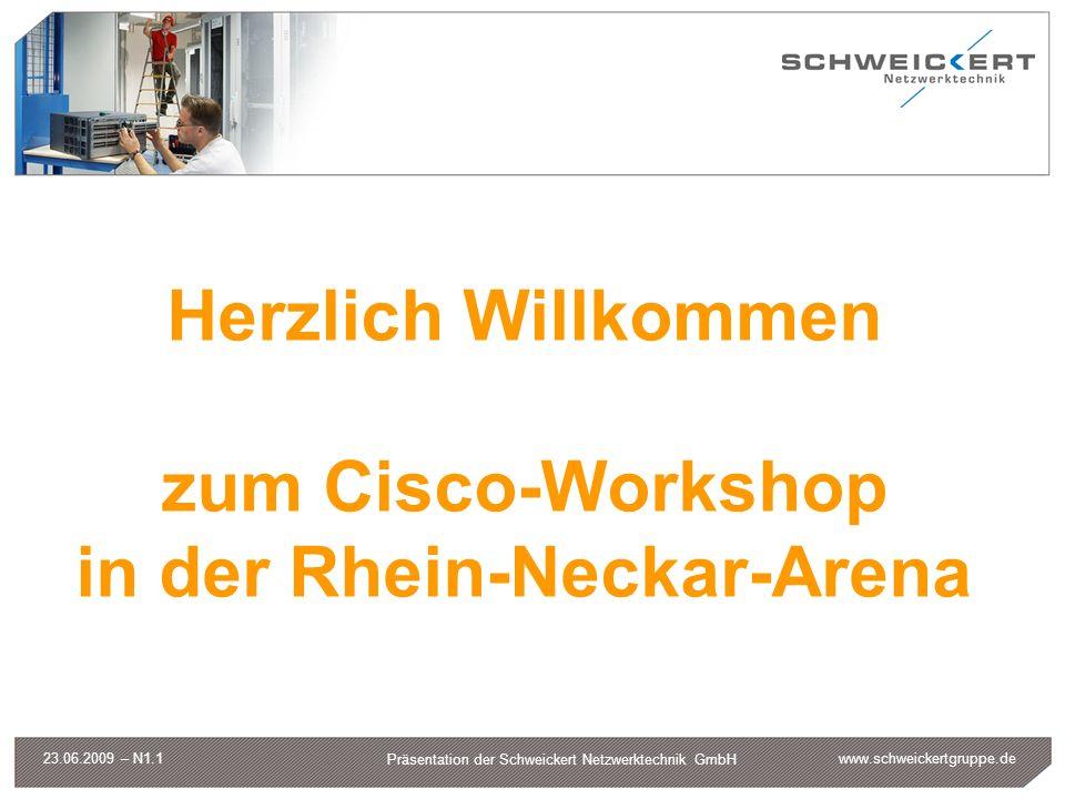 Herzlich Willkommen zum Cisco-Workshop in der Rhein-Neckar-Arena