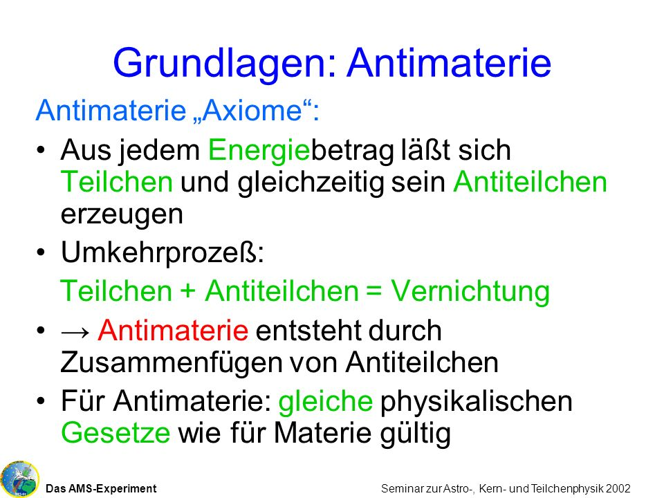 Grundlagen: Antimaterie
