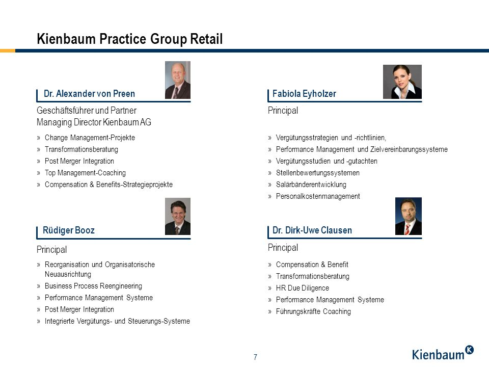 Kienbaum Practice Group Retail
