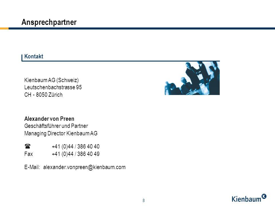 Ansprechpartner Kontakt Kienbaum AG (Schweiz) Leutschenbachstrasse 95
