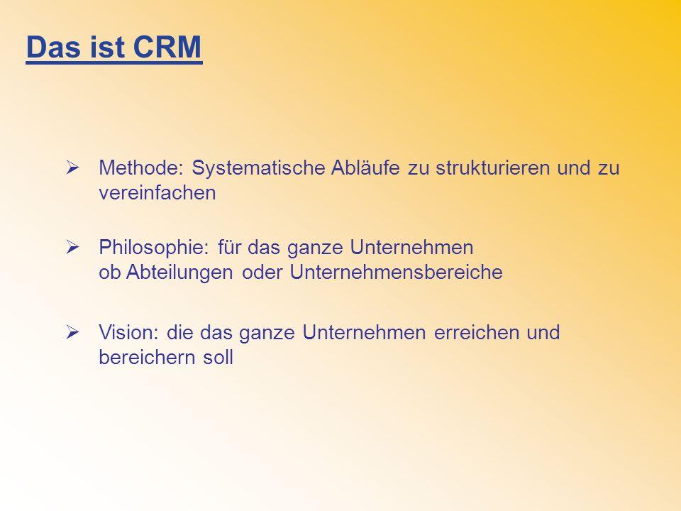 Das ist CRM Methode: Systematische Abläufe zu strukturieren und zu vereinfachen.