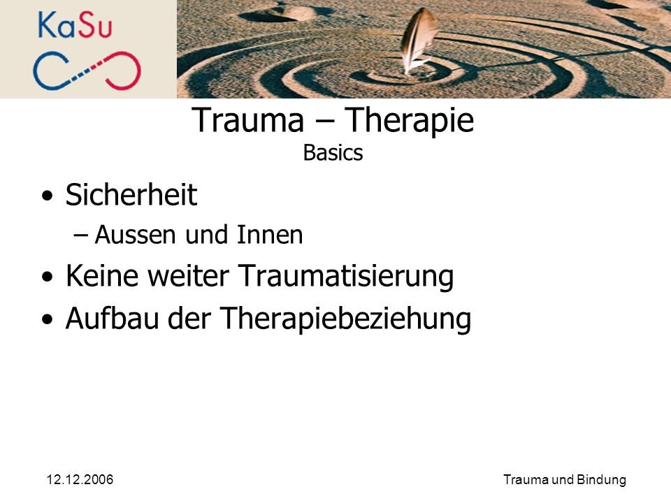 Trauma – Therapie Basics