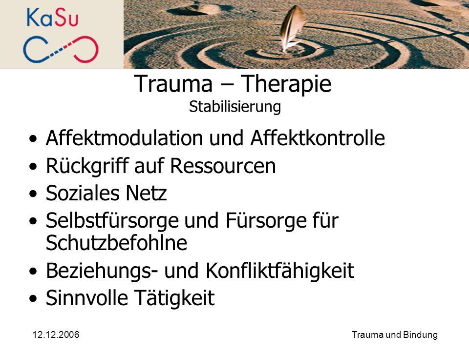 Trauma – Therapie Stabilisierung