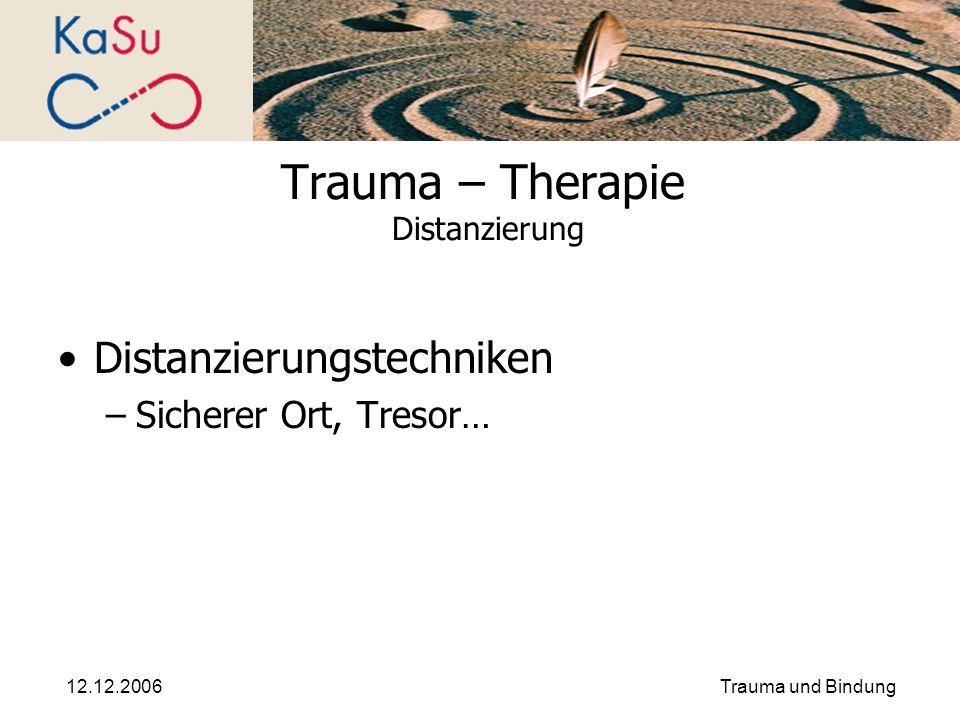 Trauma – Therapie Distanzierung