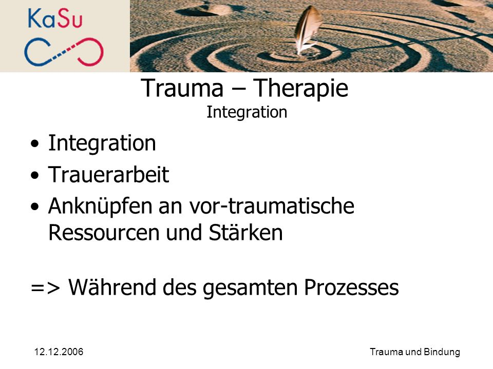 Trauma – Therapie Integration
