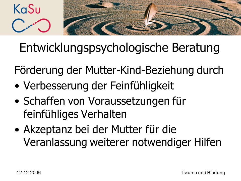 Entwicklungspsychologische Beratung