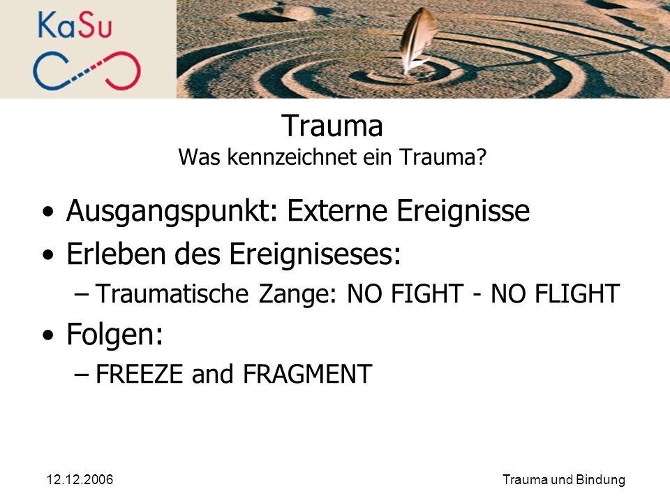 Trauma Was kennzeichnet ein Trauma