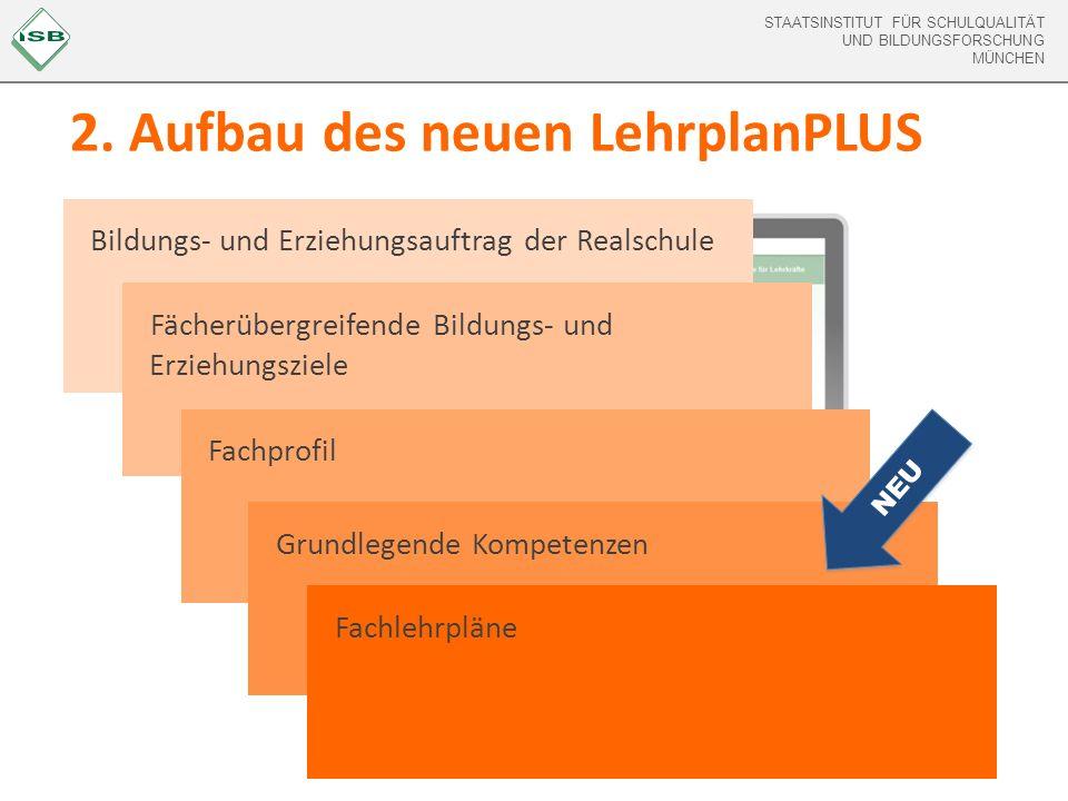 2. Aufbau des neuen LehrplanPLUS