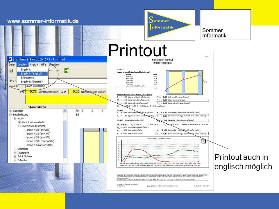 Printout Printout auch in englisch möglich