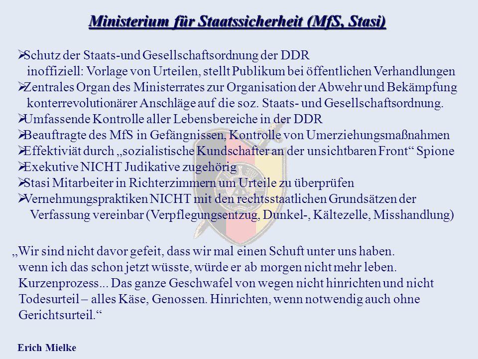 Ministerium für Staatssicherheit (MfS, Stasi)