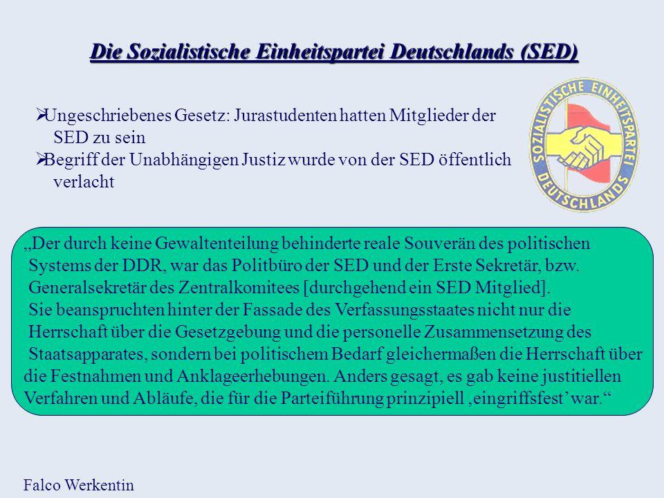 Die Sozialistische Einheitspartei Deutschlands (SED)