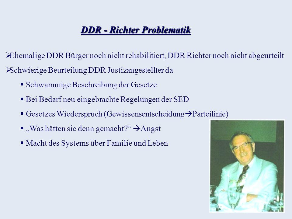 DDR - Richter Problematik