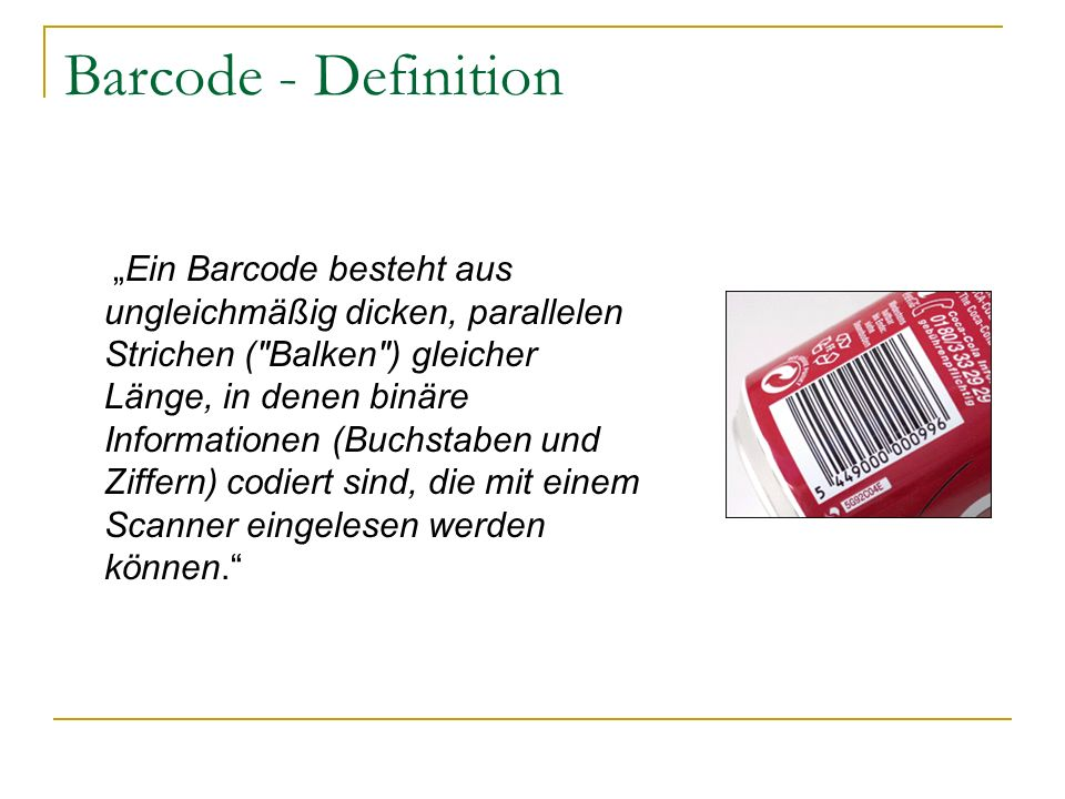 Barcode - Definition