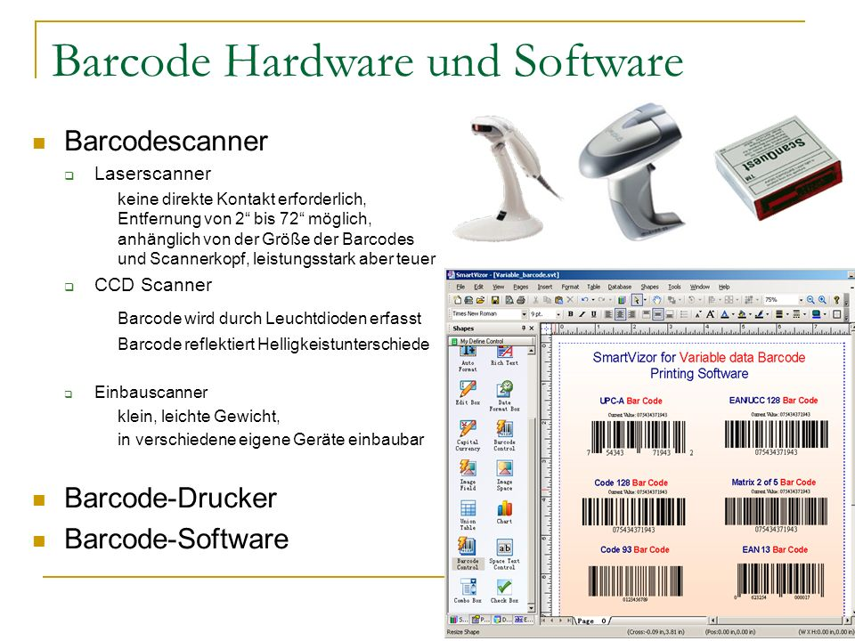 Barcode Hardware und Software