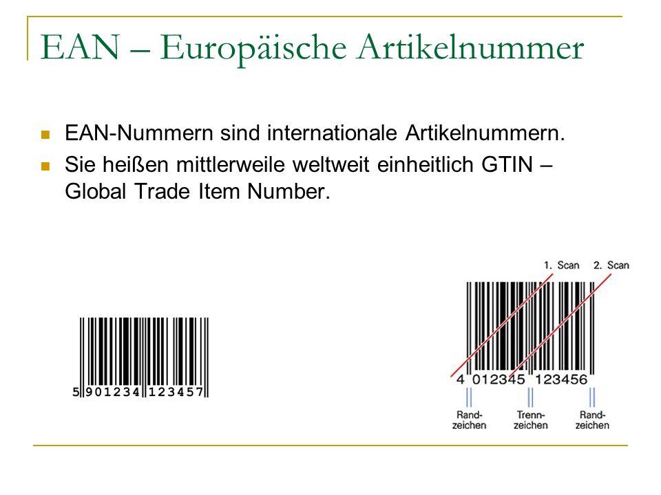 EAN – Europäische Artikelnummer