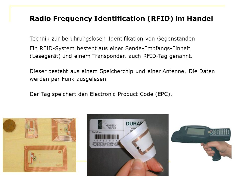 Radio Frequency Identification (RFID) im Handel