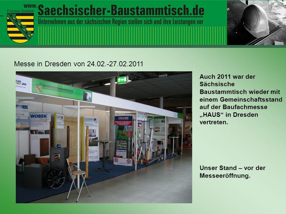 Hallo ihr Leute Messe in Dresden von 24.02.-27.02.2011