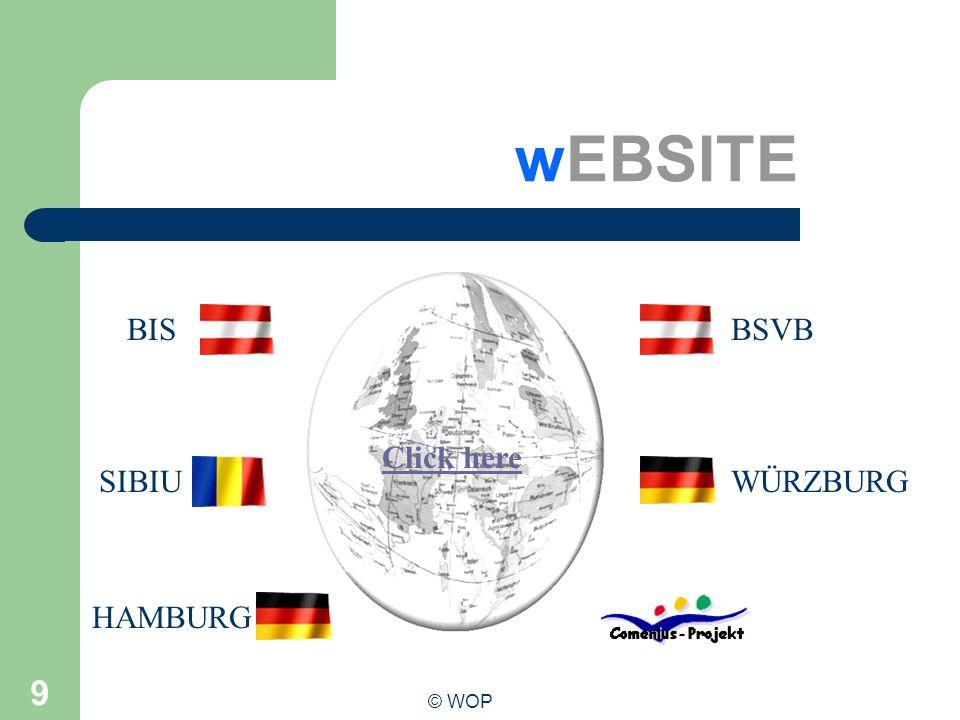 wEBSITE BIS BSVB Click here SIBIU WÜRZBURG HAMBURG © WOP