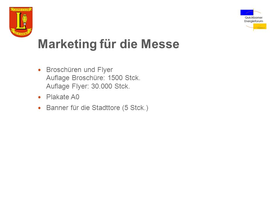Marketing für die Messe