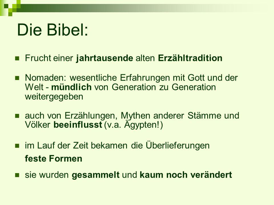 Die Bibel: Frucht einer jahrtausende alten Erzähltradition