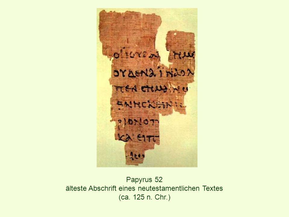 älteste Abschrift eines neutestamentlichen Textes