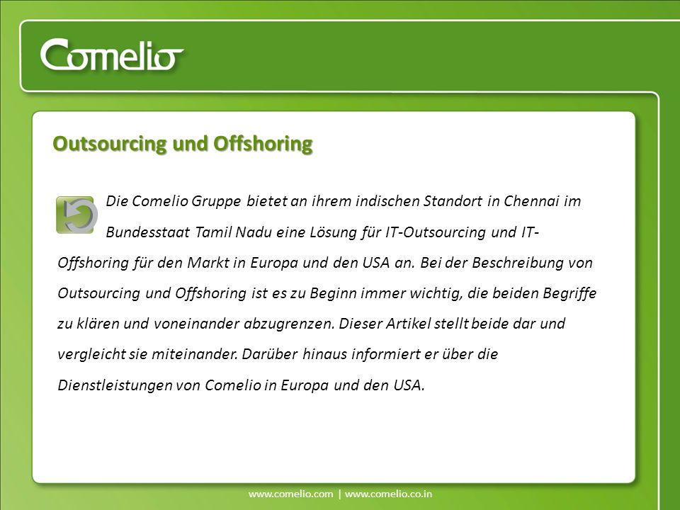 Outsourcing und Offshoring