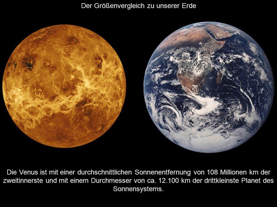 Der Größenvergleich zu unserer Erde