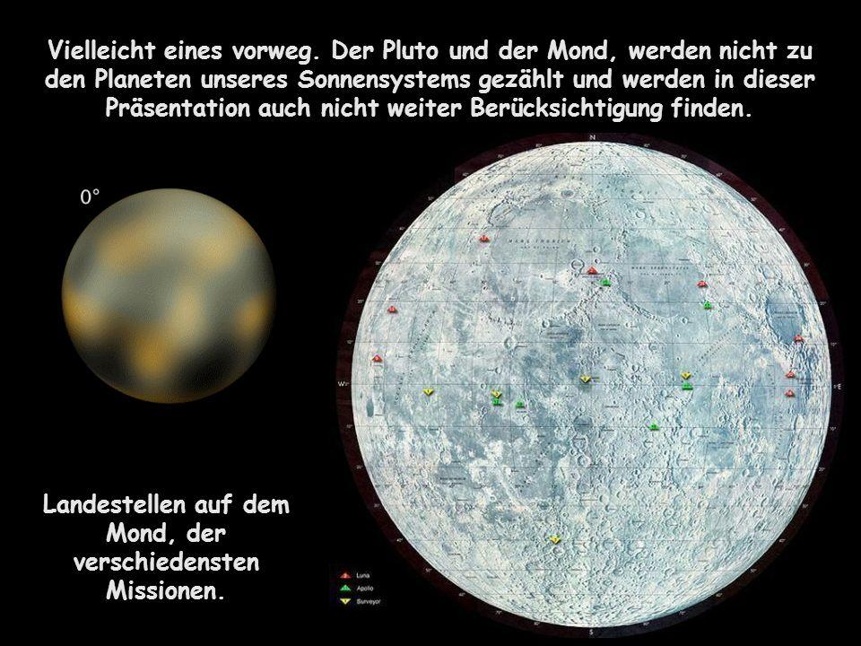 Landestellen auf dem Mond, der verschiedensten Missionen.