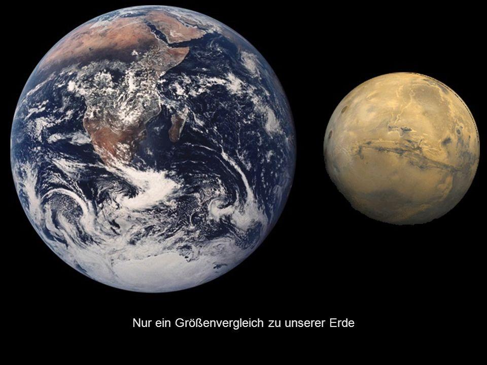 Nur ein Größenvergleich zu unserer Erde